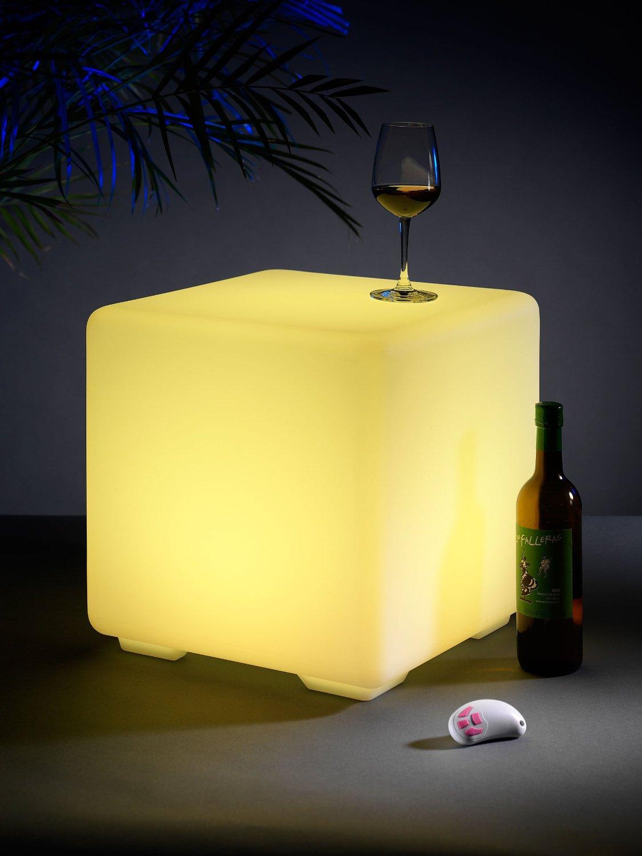 LED Hocker mit Fernbedienung